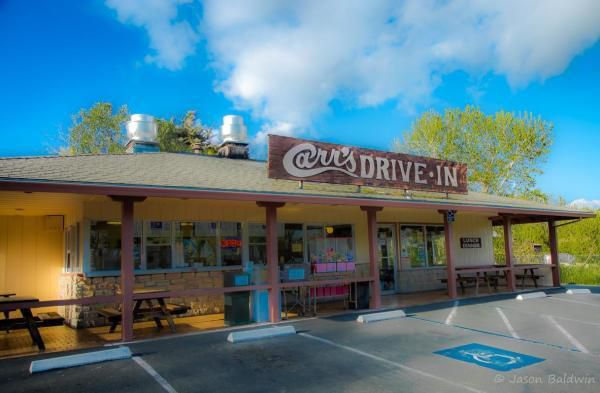 Exterior of Carr's Drive In