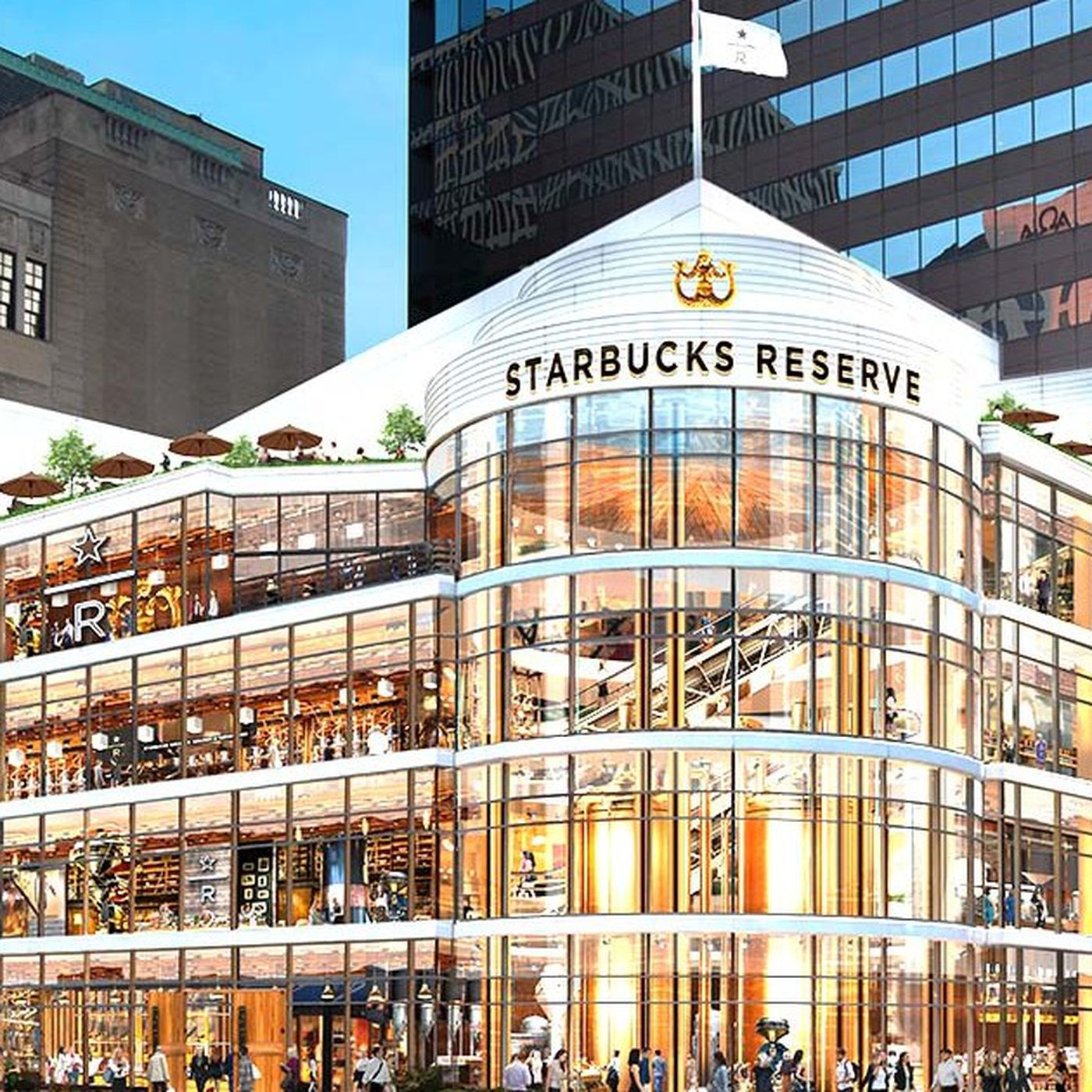 World S Largest Starbucks To Replace Crate Barrel On Mag