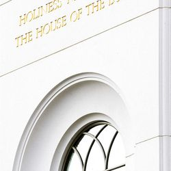 About 200 take part in the cornerstone ceremony at the Brigham City Temple prior to the dedication Sunday, Sept. 23, 2012.