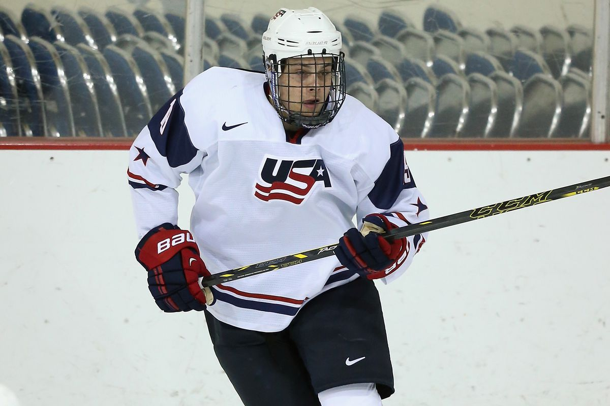 Auston Matthews, pictured here at last year's National Junior Evaluation Camp, is projected to be selected No. 1 overall in the 2016 NHL Draft.