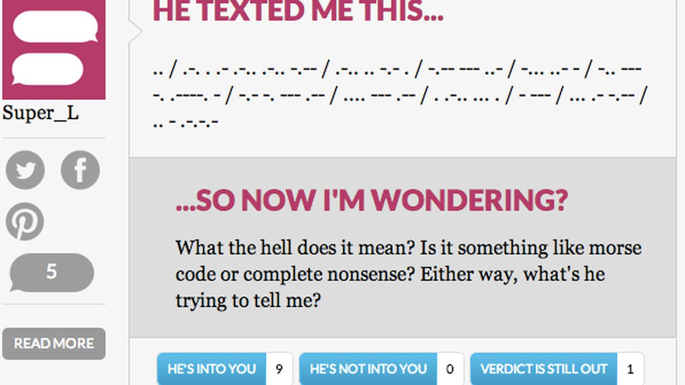 What does this mean??' The absurd pleasures of HeTexted's terrible