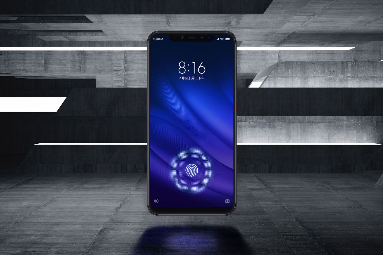 xiaomi s mi 8 pro looks like an iphone x with an in display fingerprint sensor