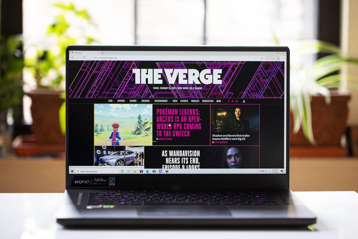 Best Gaming Laptop 2021: Asus ROG Zephyrus G15 gaming laptop