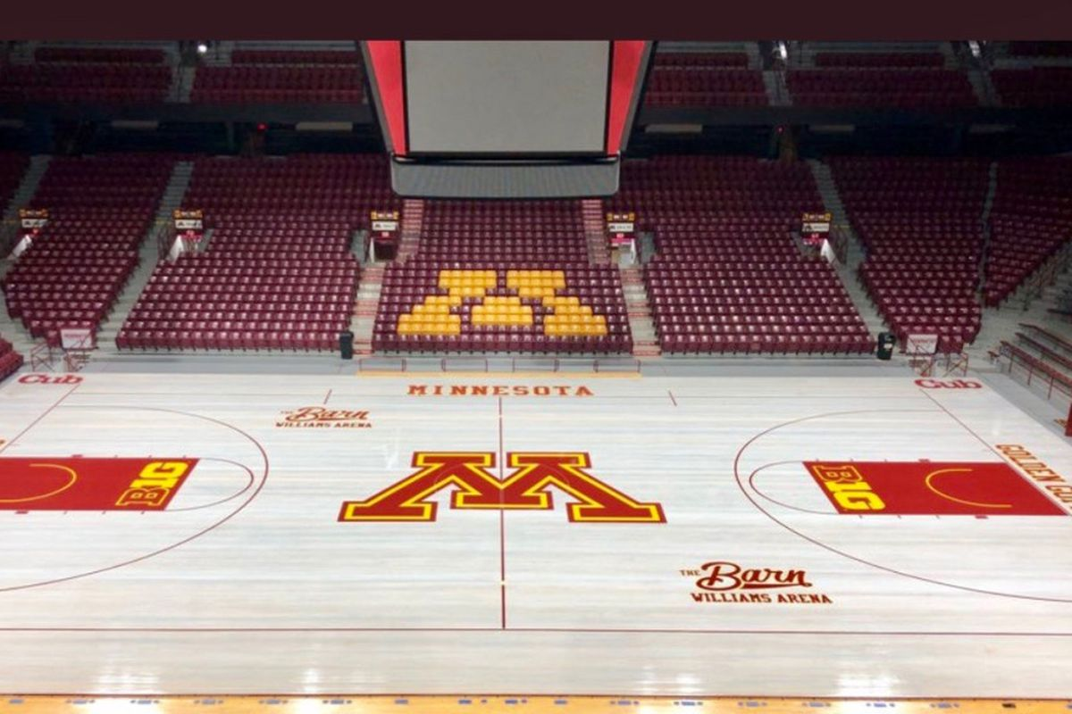 minnesota basketball check out williams arena s new court the