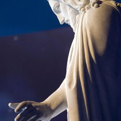 The Christus statue during the Saturday morning session of General conference Saturday, Oct. 6, 2012.