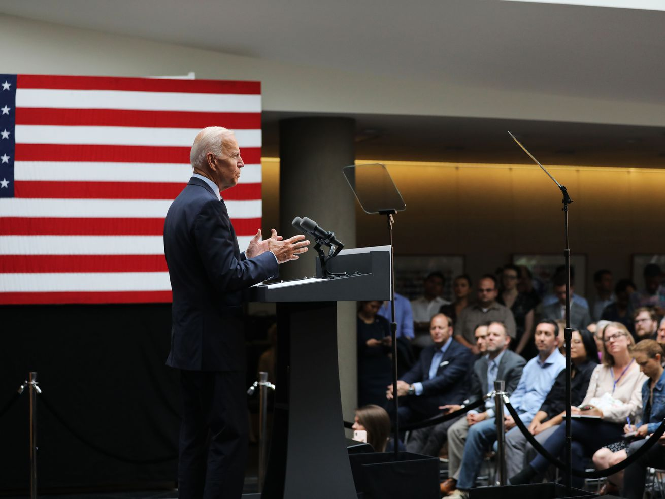 Former Vice President Joe Biden delivers his foreign policy speech in New York on July 11, 2019.