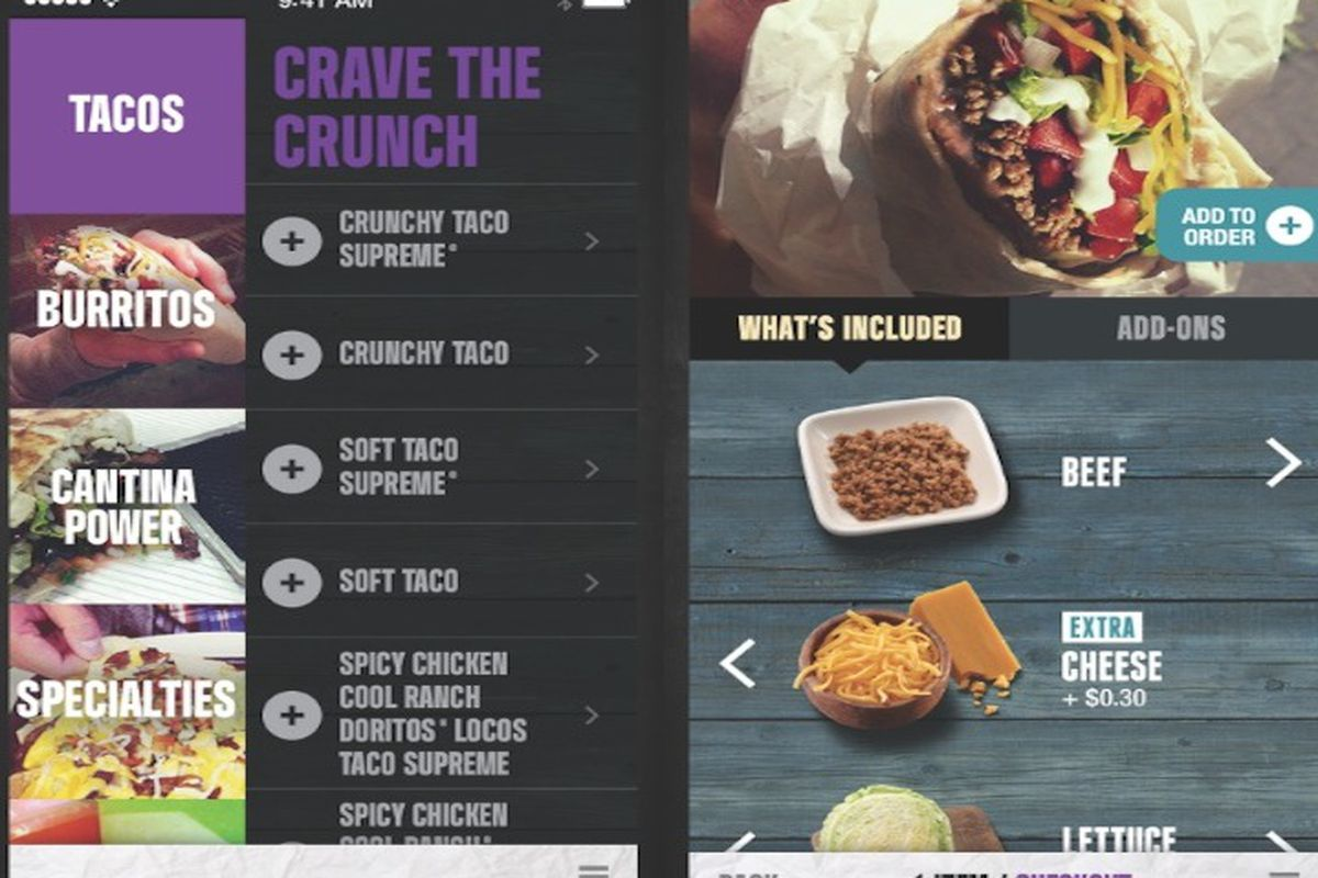 Taco bells new app launches with mobile ordering and unlimited menu taco bell app new 2014 ordering00g forumfinder Gallery