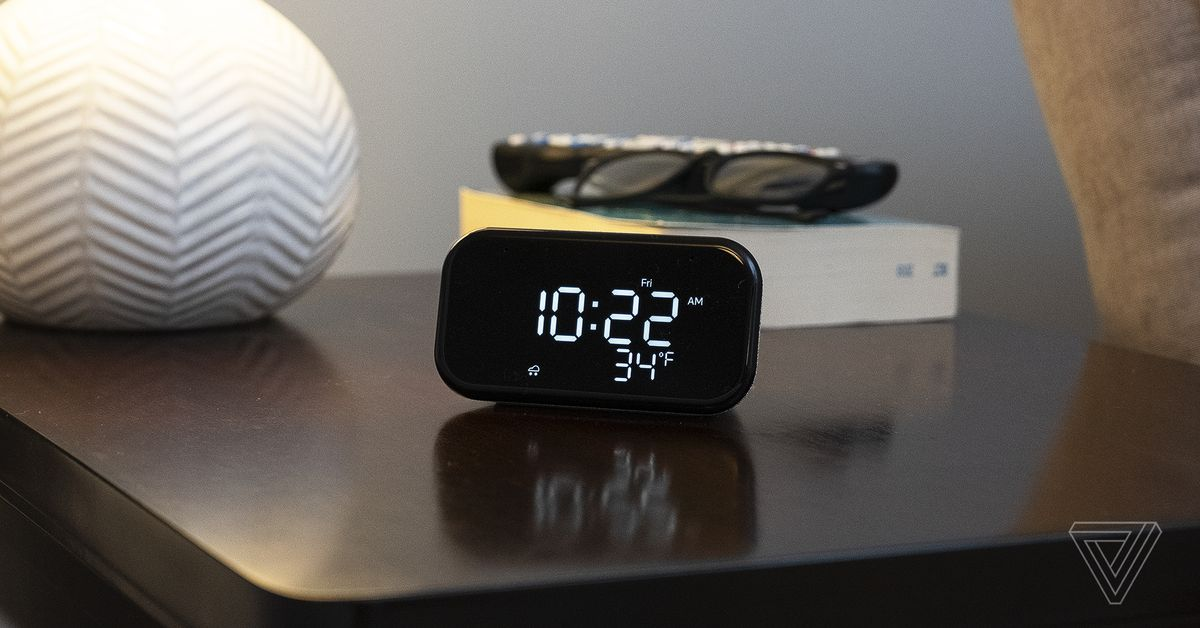 Lenovo's Smart Clock Essential is a slightly smarter bedside clock thumbnail