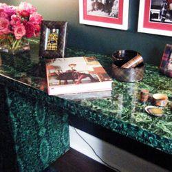 The tartan room's table.