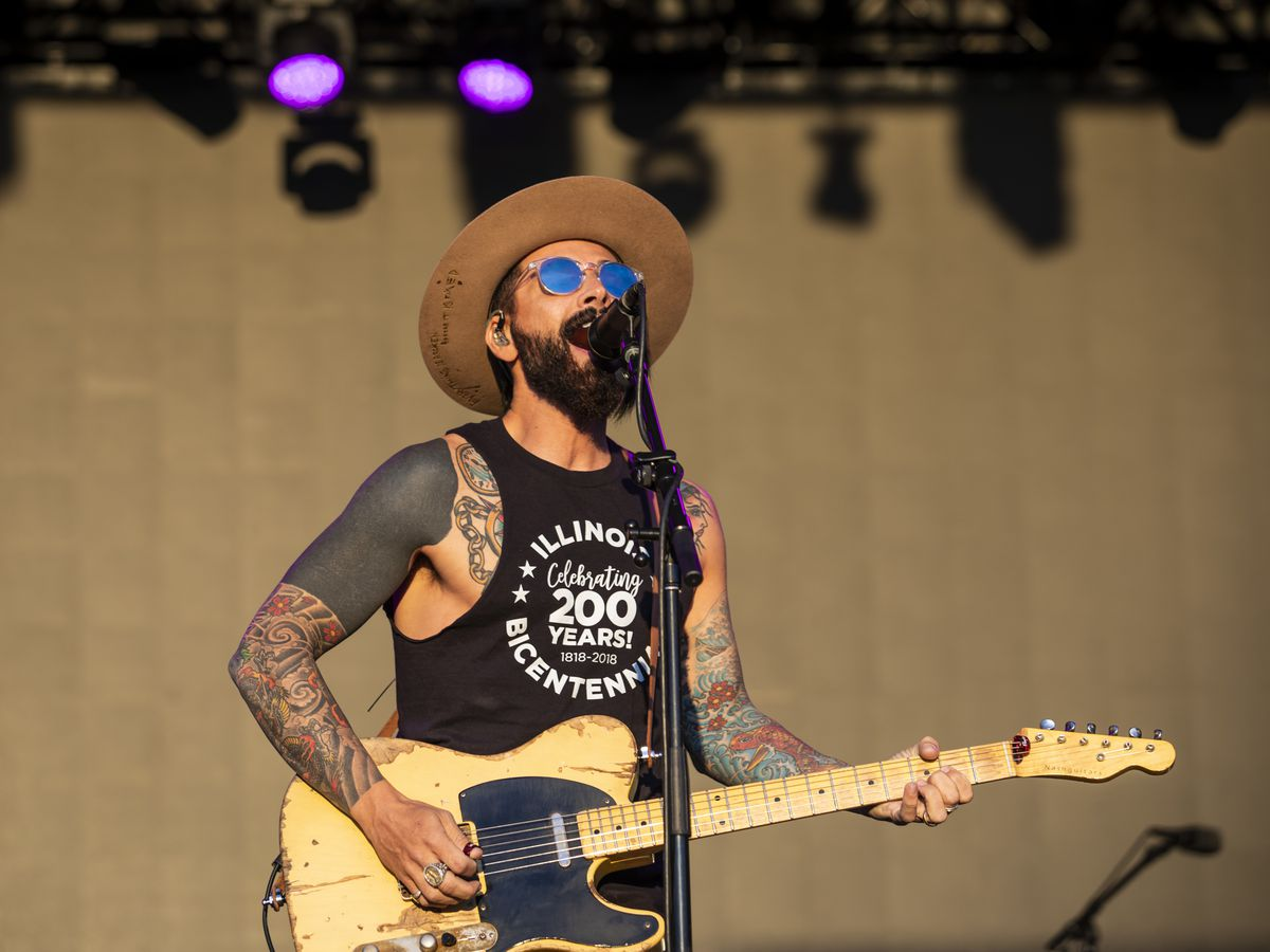 Chris Carrabba, of Dashboard Confessional, performs on day one of Riot Fest in Douglas Park, Friday afternoon, Sept. 13, 2019.