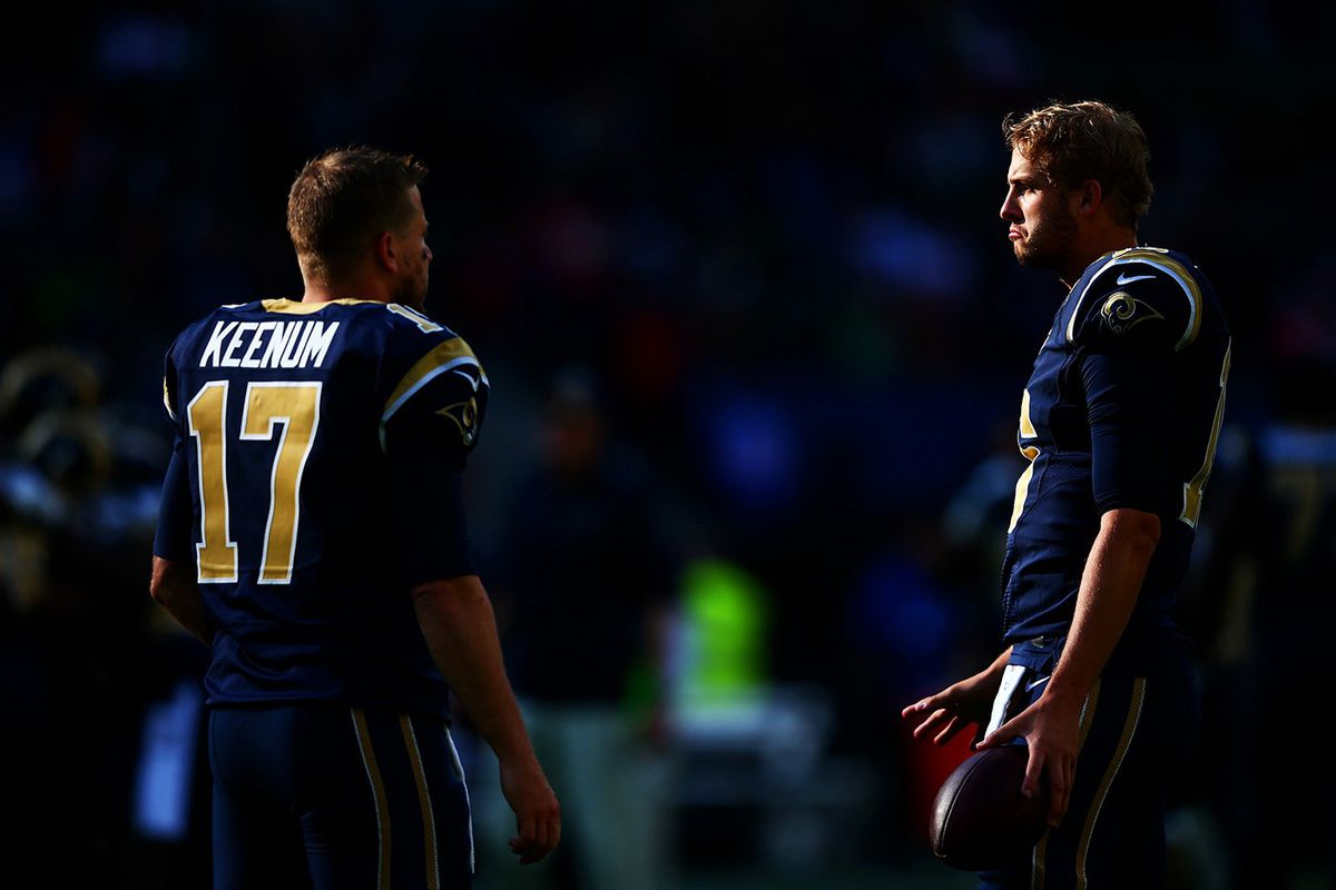Case Keenum and Jared Goff (GettyImages)