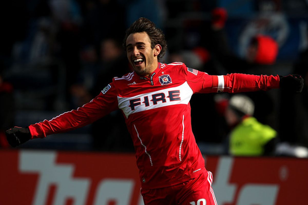 Gaston Puerari celebrating a goal: is this going to be a rare sight this season?