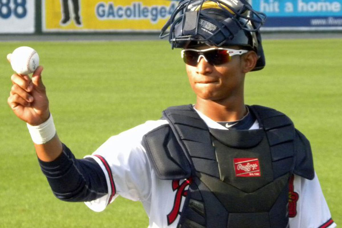 The Braves don't have a wealth of great catching prospects, but they do have one outstanding one in 19 year old Christian Bethancourt.