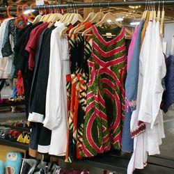 We fell in love with LA designer Lynn Bathke's printastic retro dresses at Treehaus' booth.