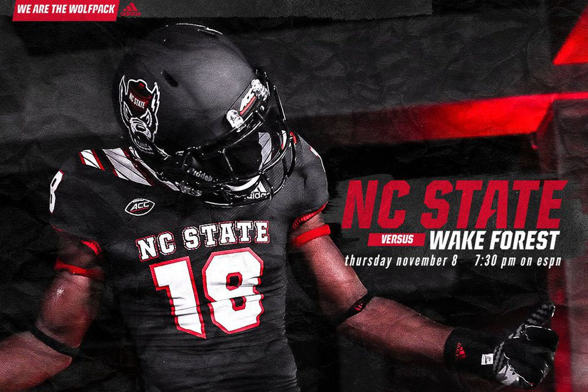 NC State wearing new black alternate uniforms against Wake Forest ... 749ed0fcd