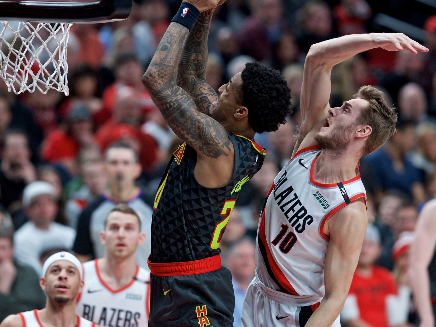 2e4e91e4be778 Hawks allow Blazers to separate down the stretch in 120-111 loss -  Peachtree Hoops