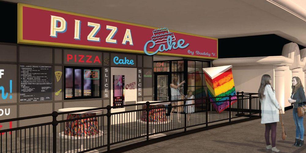 "A rendering of PizzaCake headed to Harrah's Las Vegas from ""Cake Boss"" Buddy Valastro."
