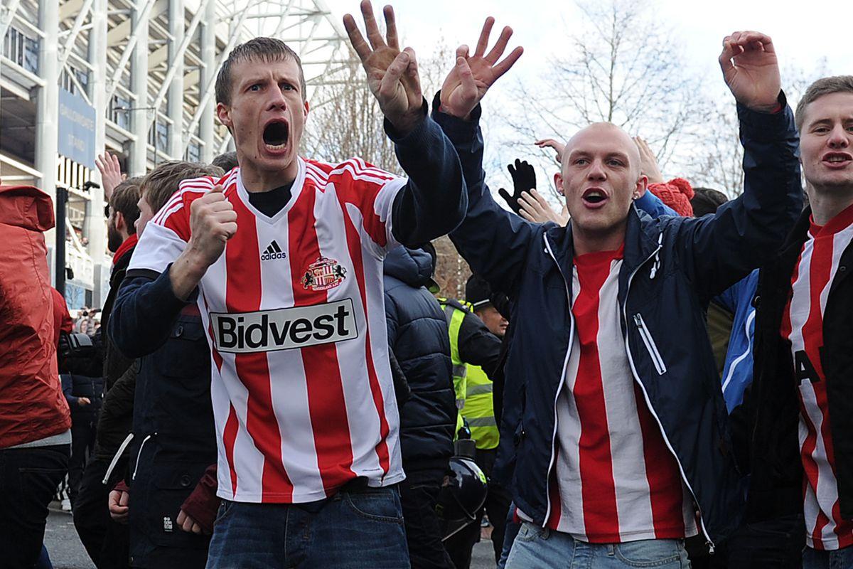 Sunderland fans on much more recent trip to St. James' Park