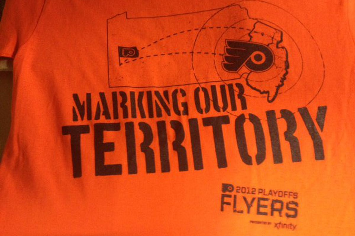 Today's t-shirt giveaway. (via the Flyers)