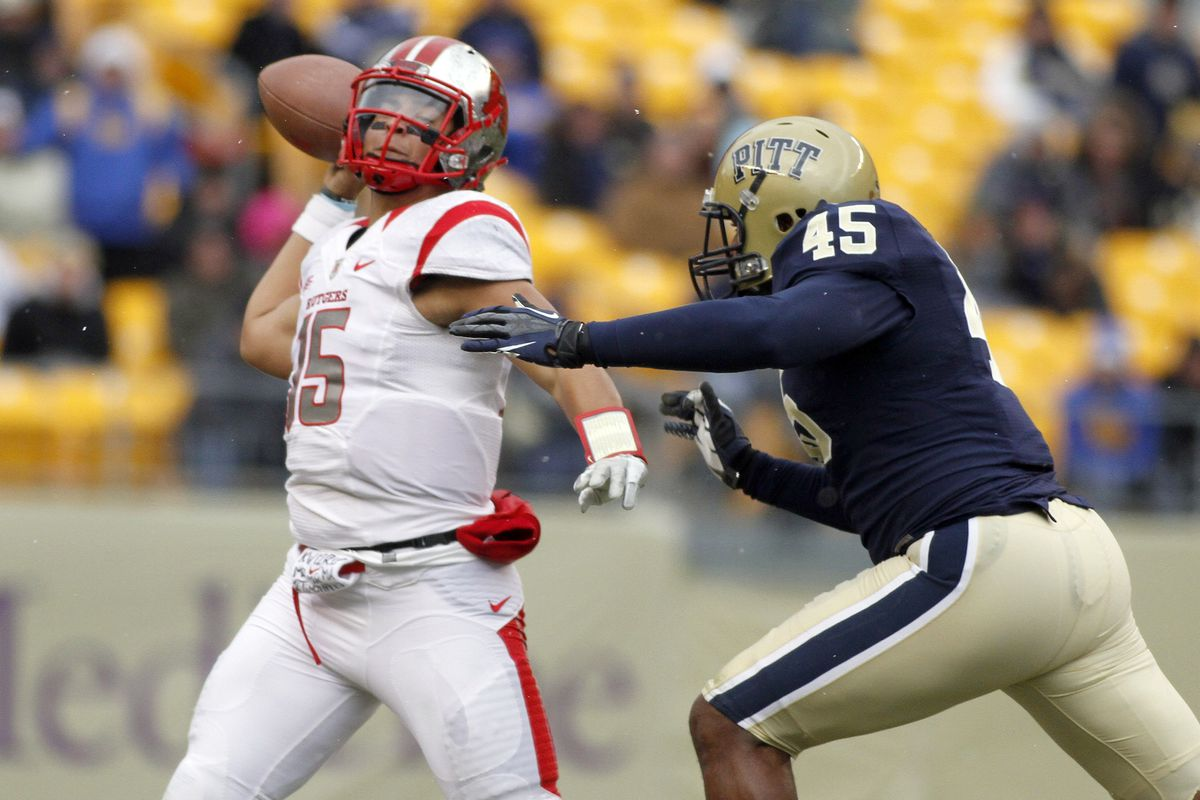 Rutgers quarterback Gary Nova was under duress often Saturday.