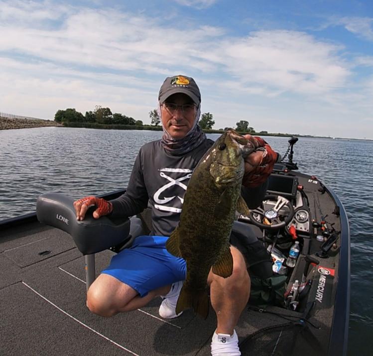 Bob Johnson with a fine Heidecke Lake smallmouth. Provided photo