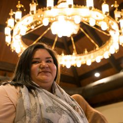 Evelyn Piña attended an Iftar meal a mosque in Naperville, IL on June 3, 2018. She was there to support her mother, a Mexican woman who converted to Islam.  I Maria de la Guardia/Sun-Times