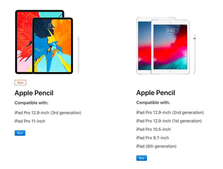 Your old Apple Pencil isn't compatible with the new iPad Pro