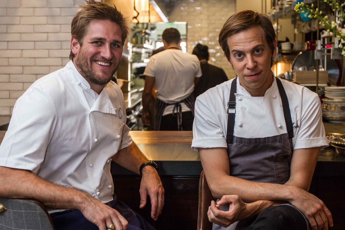 Curtis Stone and Justin Hilbert at Maude, Beverly Hills