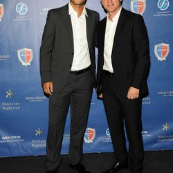 Patrik Berger, left, and Vladimir Smicer at Hakkasan. Photo: Brenton Ho/Powers Imagery LLC