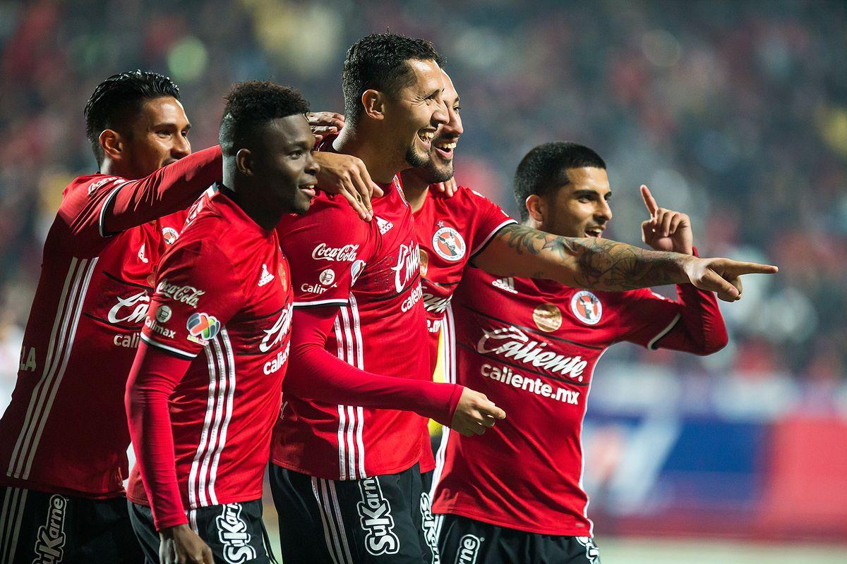 Tijuana's Yasser Corona celebrates a goal in Xolos' 2-1 Copa MX win against Correcaminos UAT.