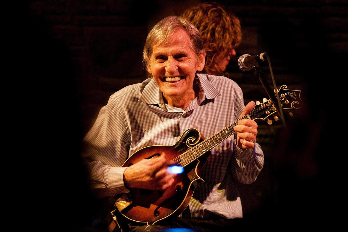 In this May 15, 2010 photo, Levon Helm performs on the mandolin during a Ramble performance at Helm's barn in Woodstock, N.Y.  Helm, who was in the final stages of his battle with cancer, died Thursday, April 19, 2012 in New York.  He was 71.  He was a ke