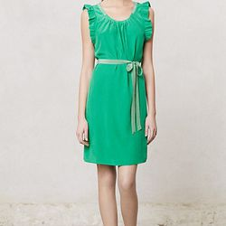 """Dressy but not too dressy, the <a href=""""http://www.anthropologie.com/anthro/product/clothes-dress-occasion/26861146.jsp"""">Trefoil Flutter Dress</a> ($148 at Anthropologie) could be worn to the office."""