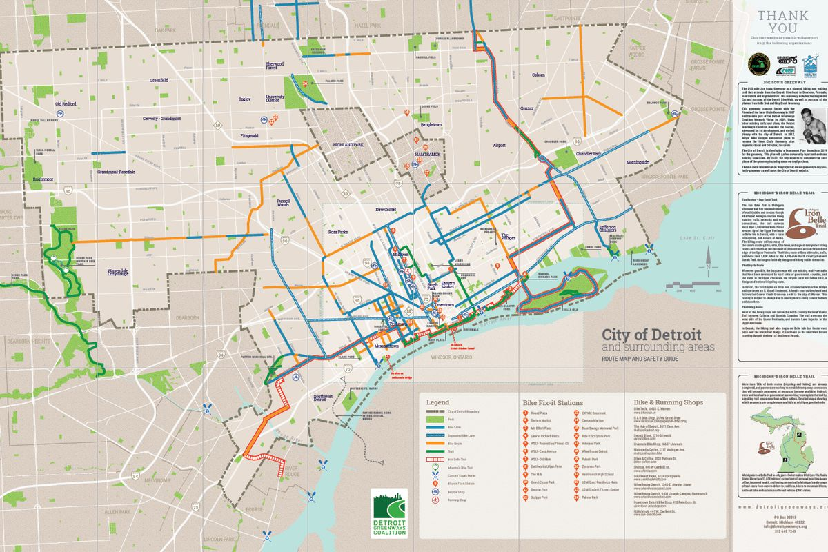 check out this handy map to bike lanes and trails in