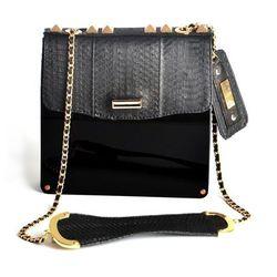 <b>Angel Jackson</b> Nocturne Midi Box Bag, $232 (originally $580)