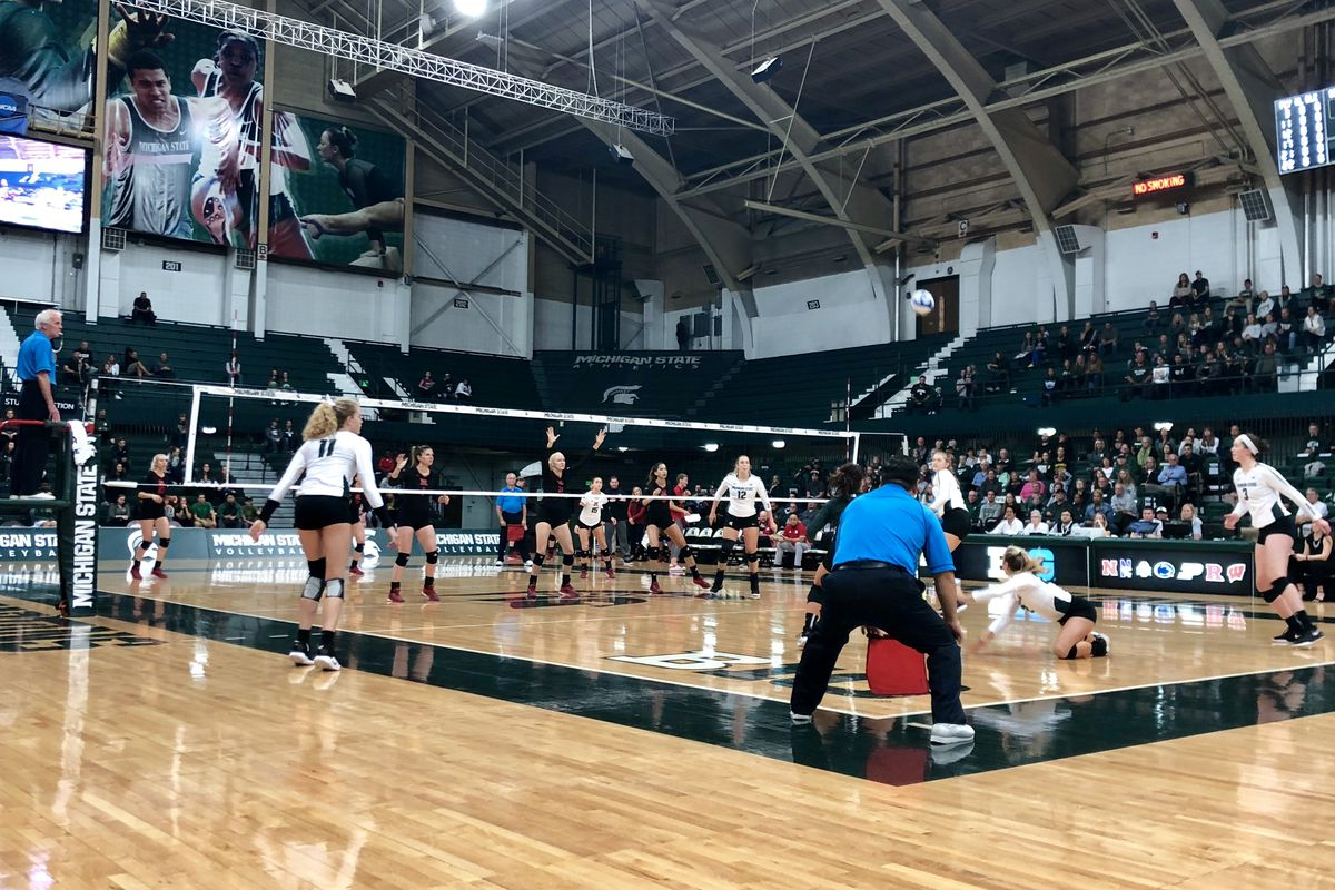 Michigan State volleyball plays Rutgers at Jenison Field House