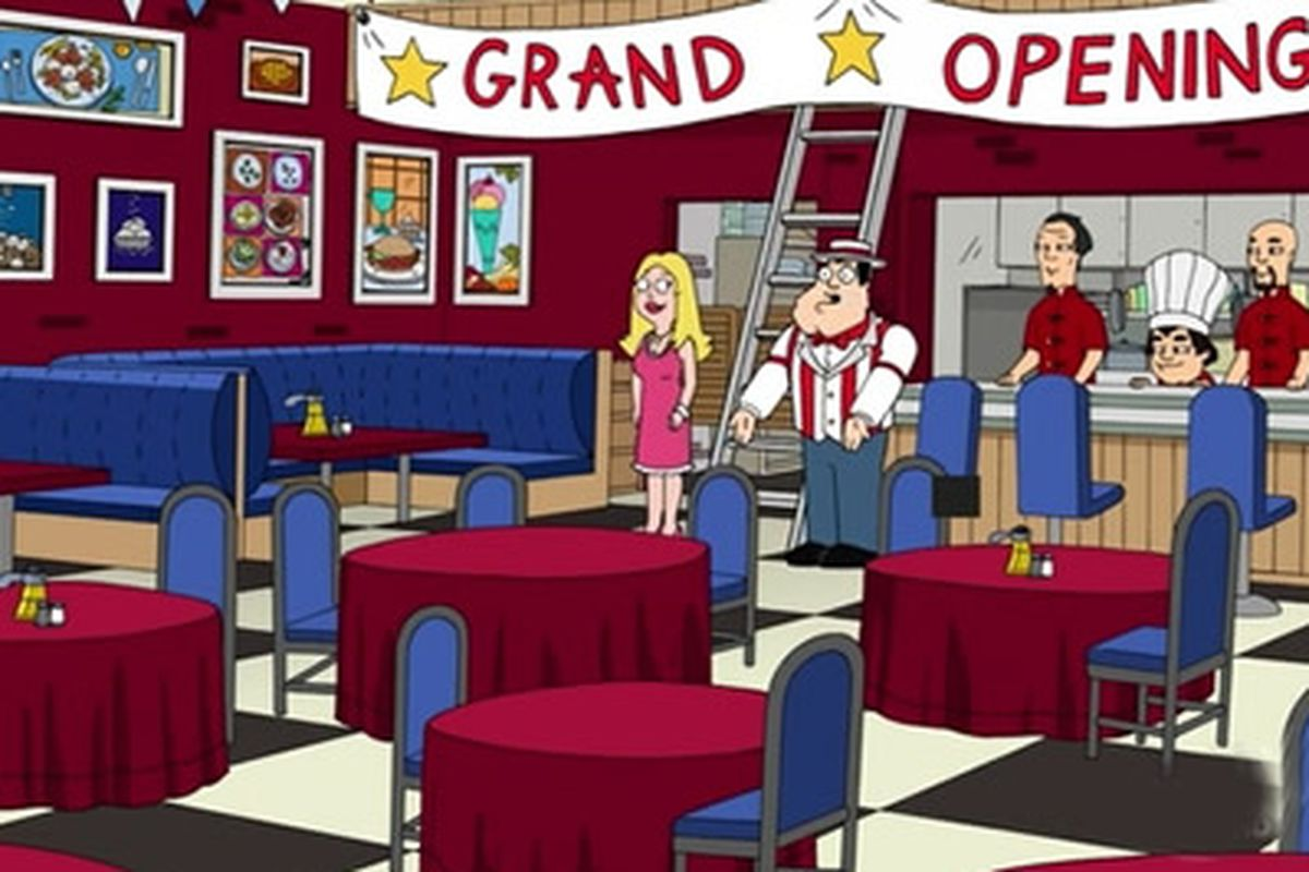 American Dad american dad opens a farm-to-table, plate-to-face restaurant