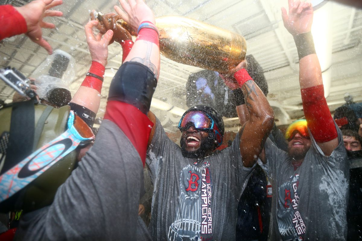 David Ortiz chugged champagne that cost more than Quintin Berry