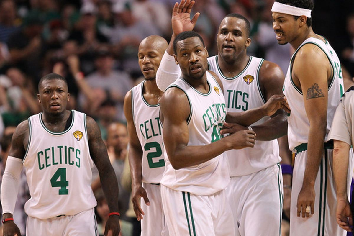 Somehow, this Celtics' lineup put away the Lakers last night.
