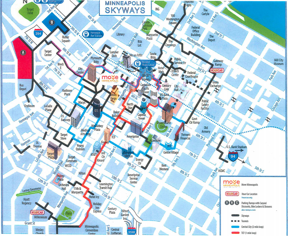 Downtown Minneapolis Skyway Map What is the Minneapolis Skyway System?   SBNation.com