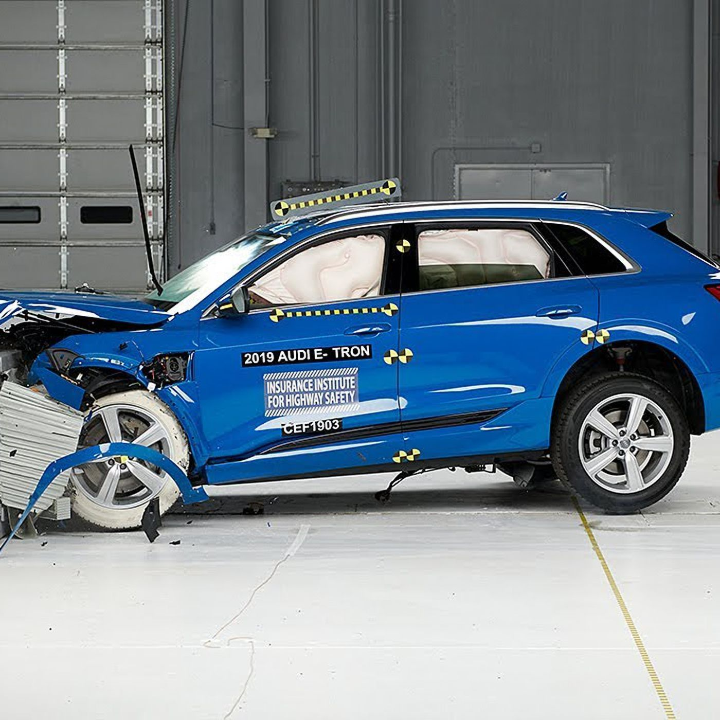 Audi's E-Tron becomes first electric car to win top safety