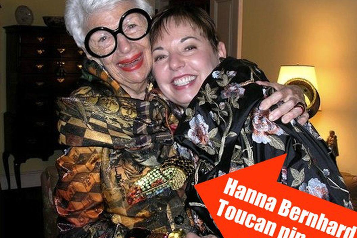 """Photo illustration, original image via <a href=""""http://hanna-bernhard.blogspot.com/2011/05/one-of-our-design-copied-by-iris-apfel.html"""">Hanna-Bernhard.blogspot.com</a>"""