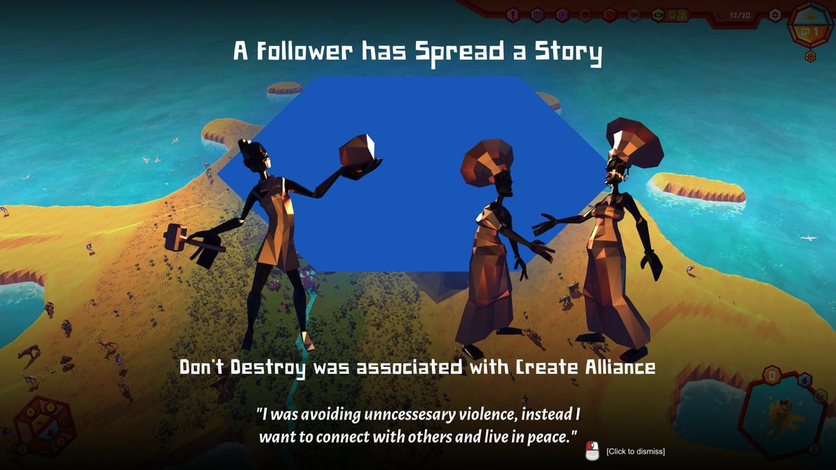 Crest - followers spread a story.