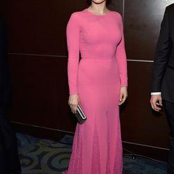 Sophia Bush is in Michael Kors, a Judith Leiber clutch, and Neil Lane jewels.