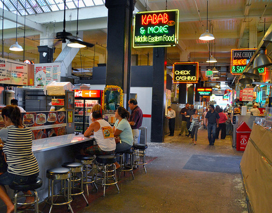 Inside The Grand Central Market Past Rows Of Dried Mexican Chilis And Beyond Meat Stalls Lies This Small Counter Serving Persian Specials Daily For