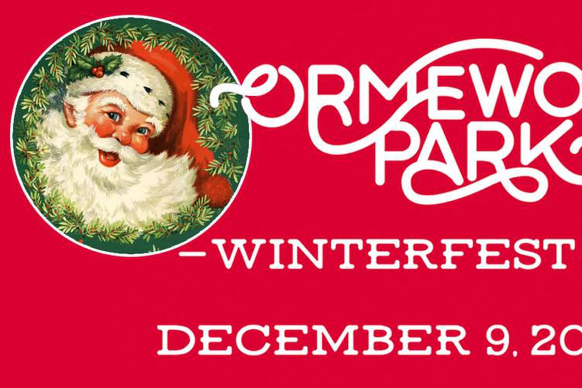 The official logo for Ormewood Park's Winterfest in Atlanta.