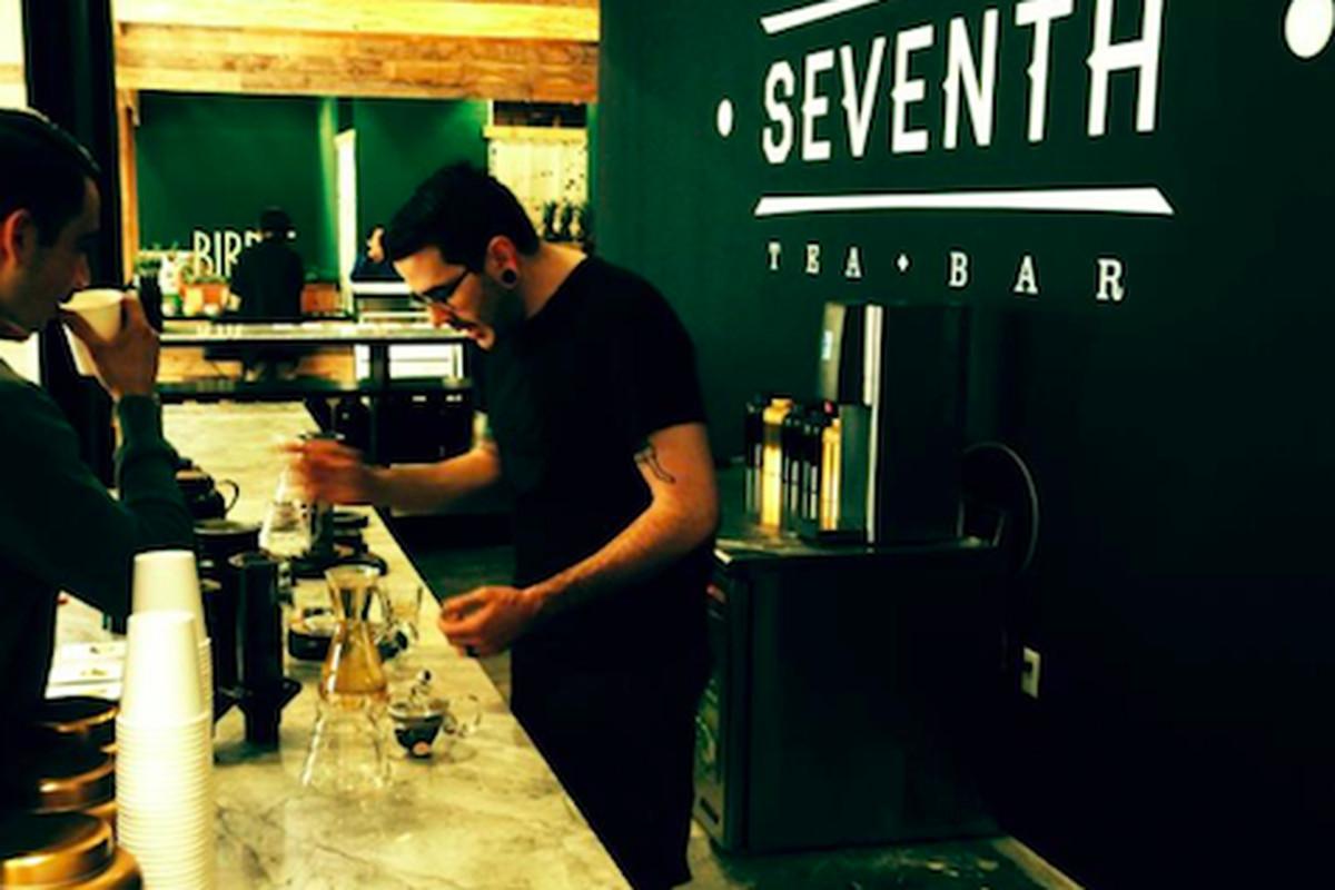 Inside Seventh Tea Bar, Costa Mesa