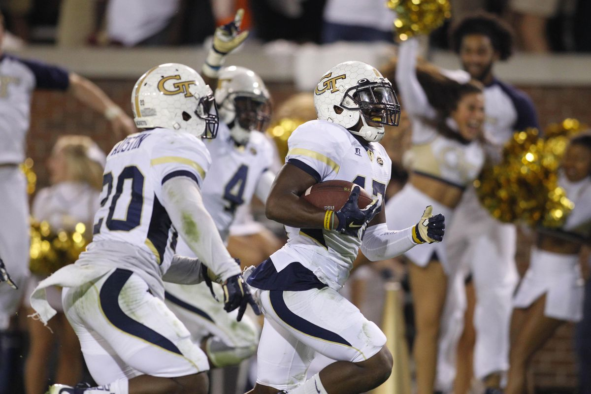 Georgia Tech knocked Florida State from the ranks of the unbeaten by returning a blocked field goal for a touchdown as time expired.