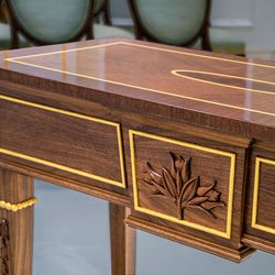 The prairie crocus is featured on a table in the Winnipeg Manitoba Temple.