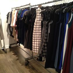 About half of the dresses left