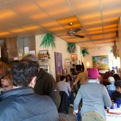 Inside Cafe Habana.